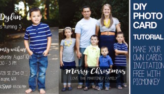 How to make photo cards or invitations DIY. Tutorial on how to use a free website to design your own personalized custom Christmas cards, birthday invitations, wedding announcements, save the date, baby announcements, and more!