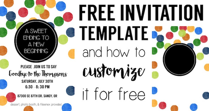 Colorful Party Invitation Free Template Paper Trail Design - Free photo party invitation templates