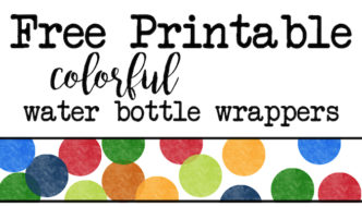 Colorful Water Bottle Wrappers Free Printable