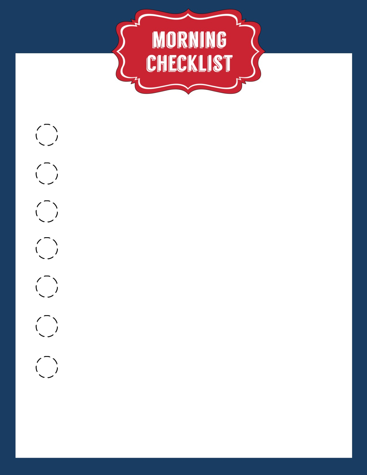 School Morning Routine Checklist Free Printable Paper