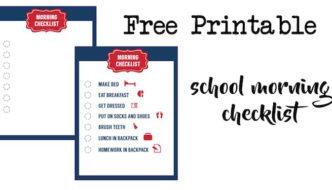School Morning Routine Checklist Free Printable