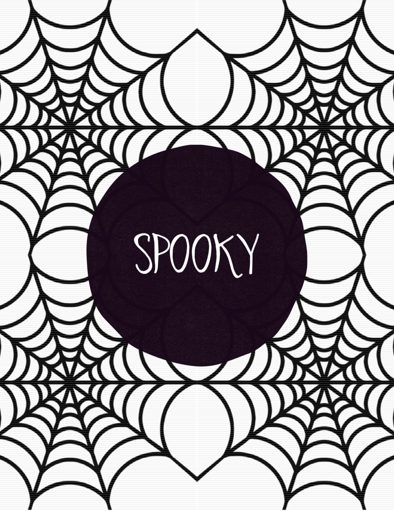 spooky halloween spider web free printable paper trail design