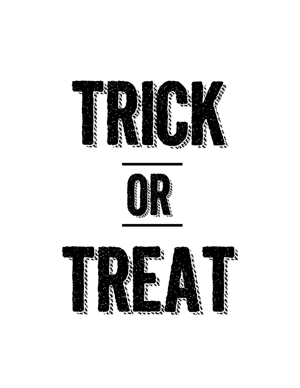 Halloween Trick or Treat Free Printable - Paper Trail Design