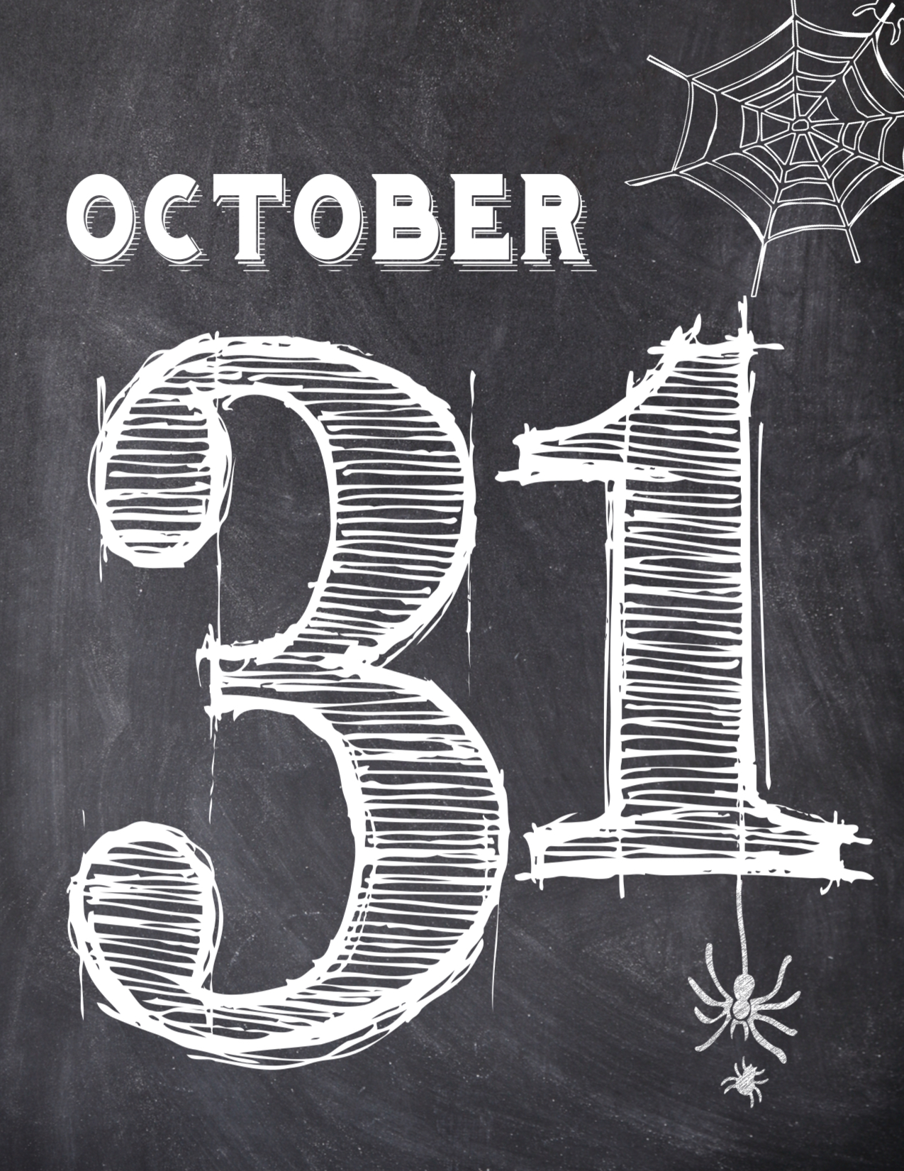 Halloween October 31 Wall Art Free Printable  Paper Trail - October Halloween