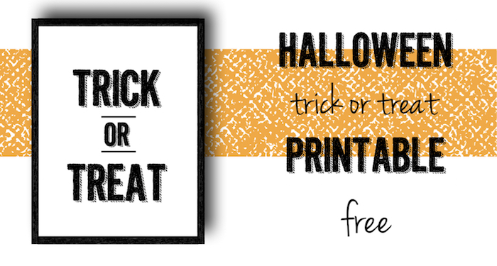 halloween trick or treat free printable paper trail design