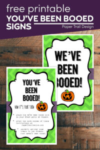 you've been booed signs with instructions with text overlay- free printable you've been booed signs