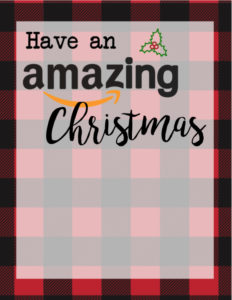 Christmas Gift Card Holders for Amazon. Print these free printable flannel Christmas print cards to go with amazon gift cards. these make a great teacher gift for Christmas.