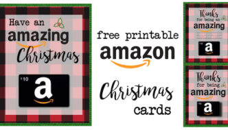 Printable Christmas Gift Card Holders for Amazon