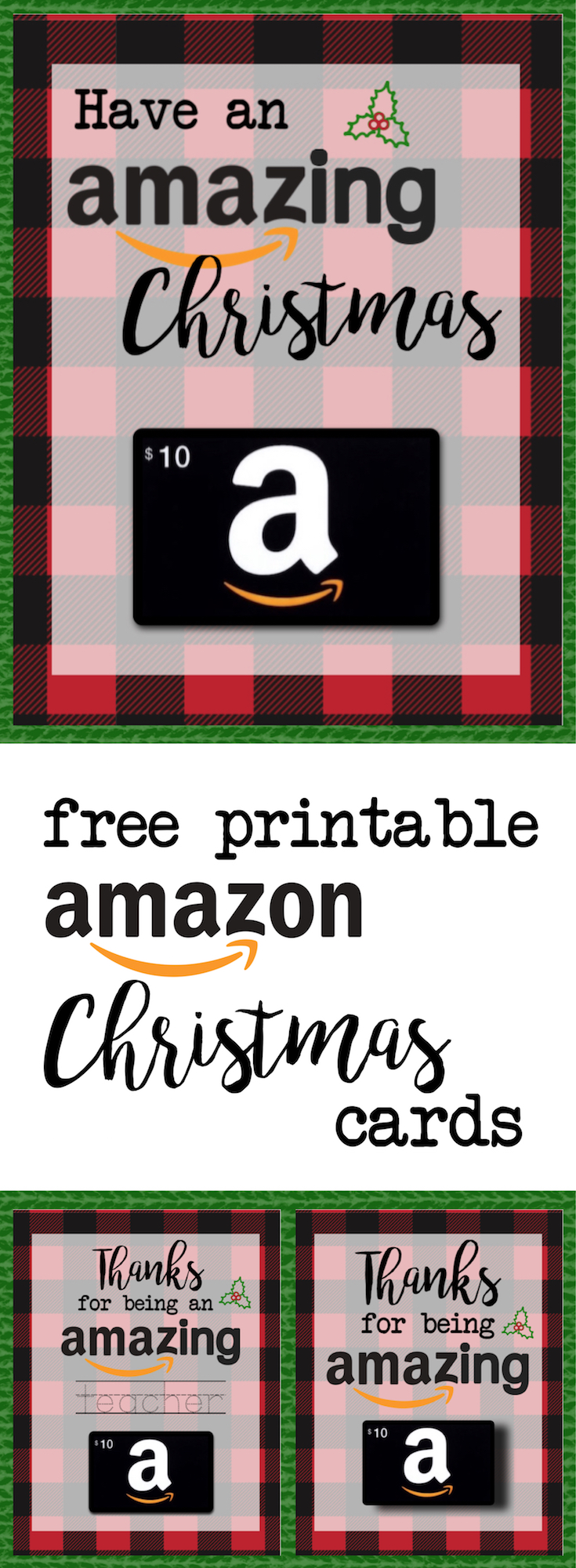 Printable christmas gift card holders for amazon paper