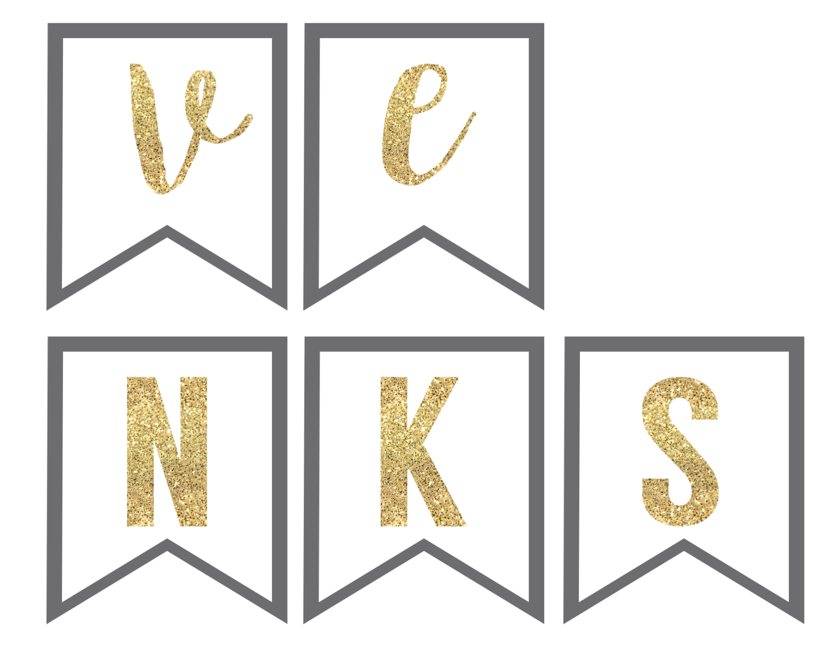 Thanksgiving Banner Free Printable - Paper Trail Design