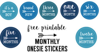 Baby Boy Monthly Onesie Stickers Free Printable
