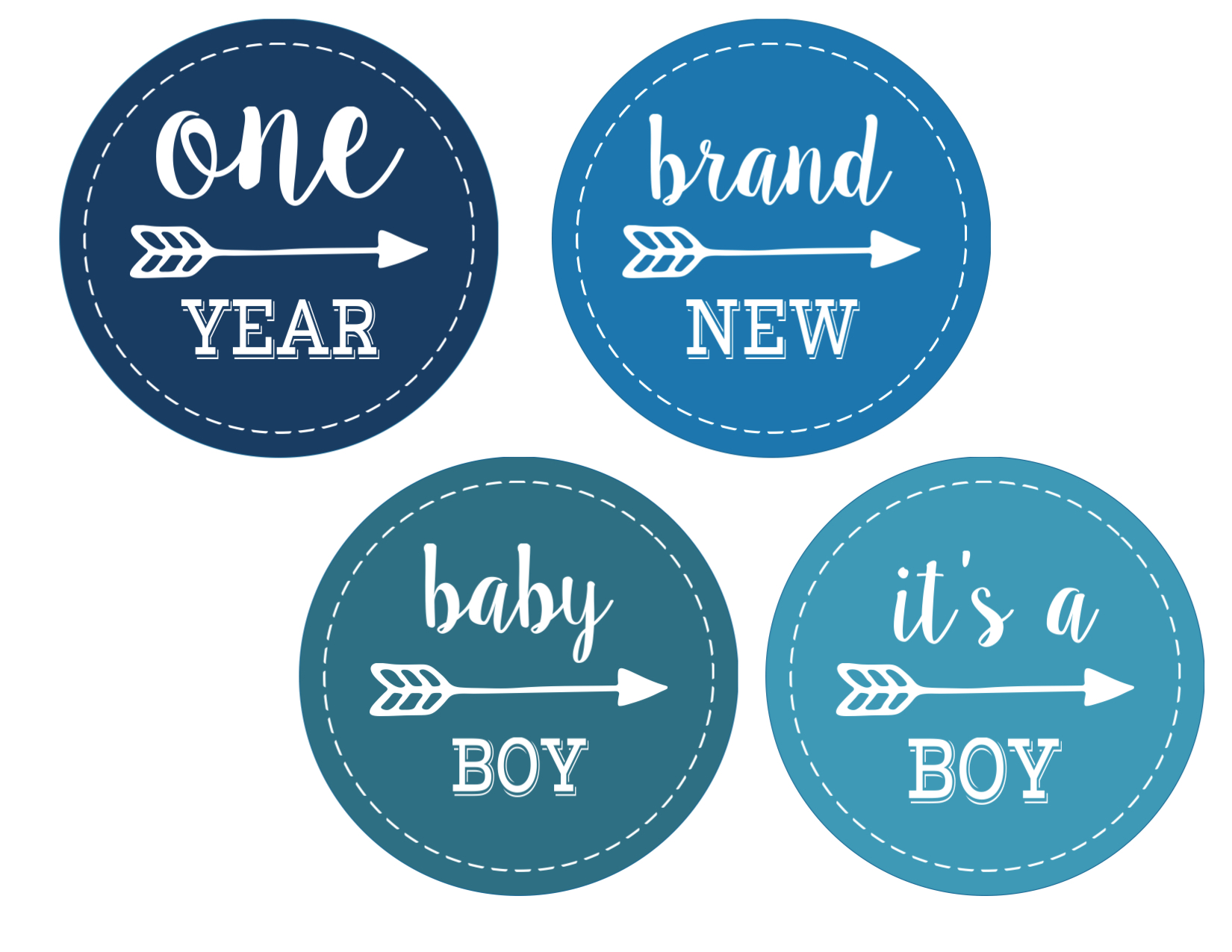 Baby Boy Monthly Onesie Stickers Free Printable | Paper ...