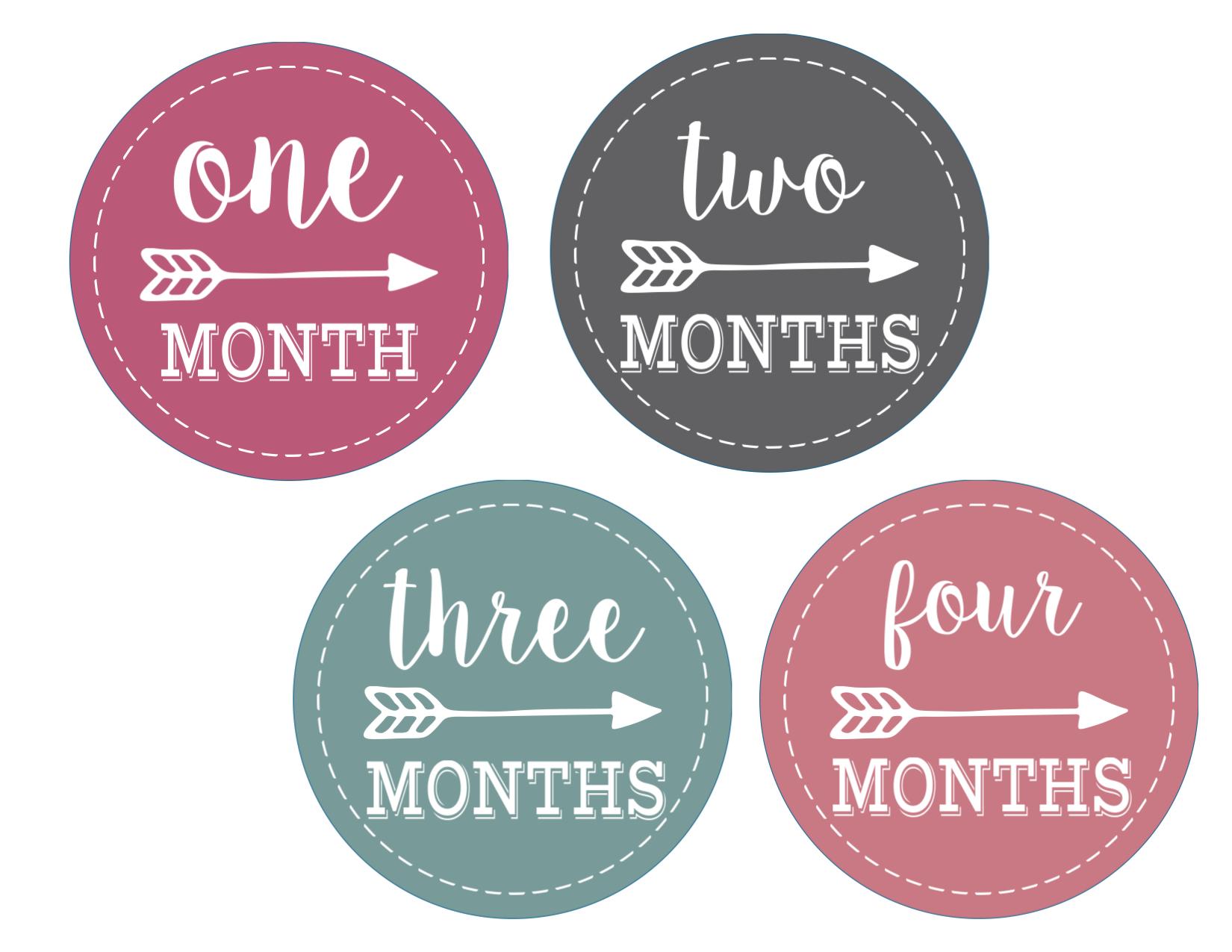1 4 months baby onesie age stickers