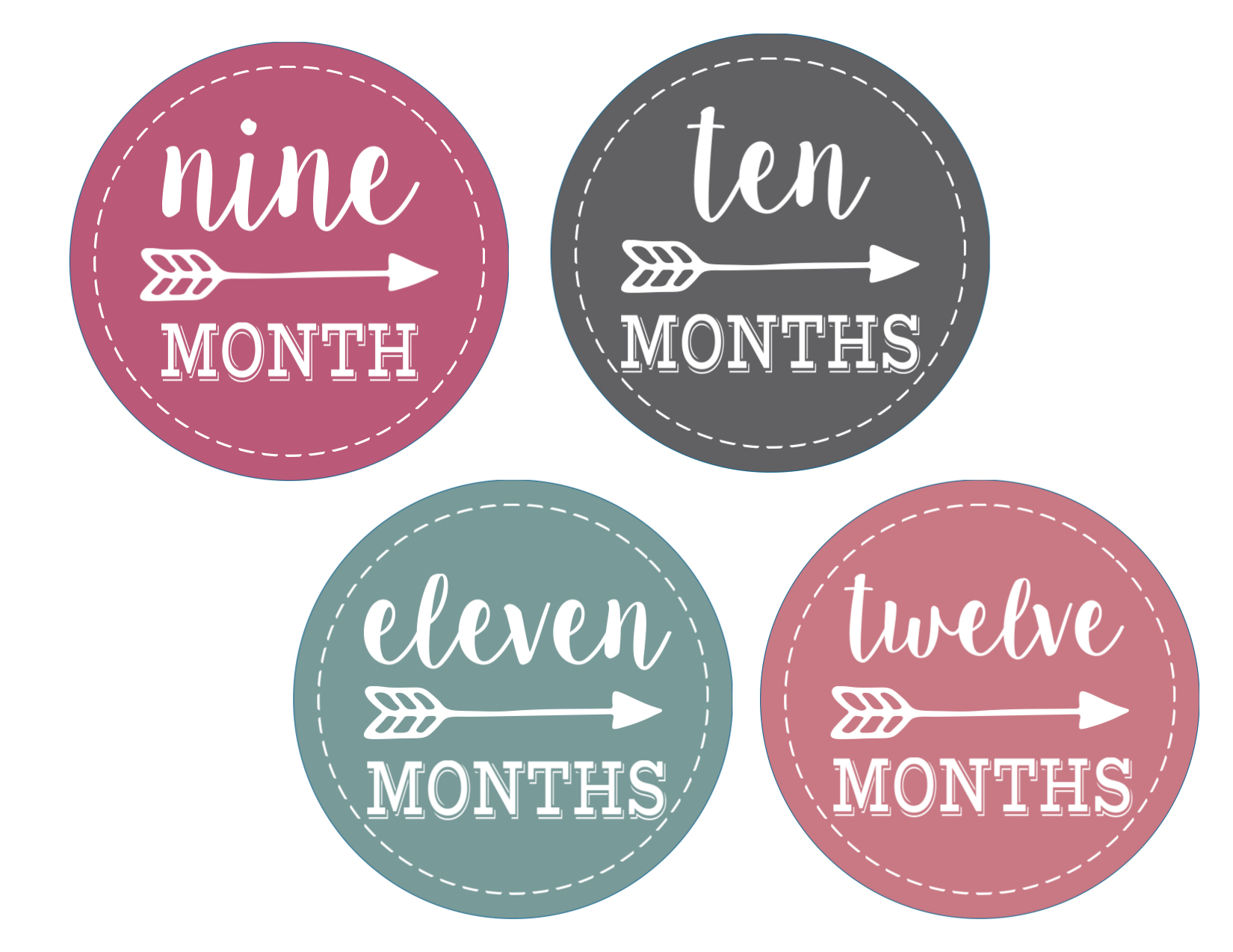 Baby Girl Monthly Onesie Stickers Free Printable Paper