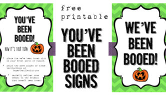 We've Been Booed Free Printable