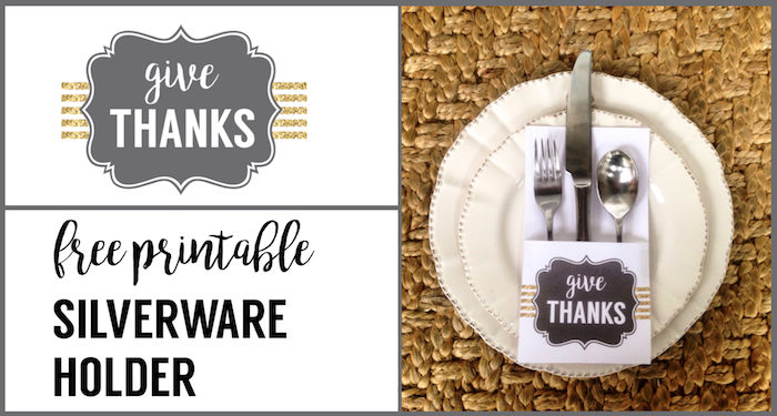 Thanksgiving Silverware Holder Free Printable