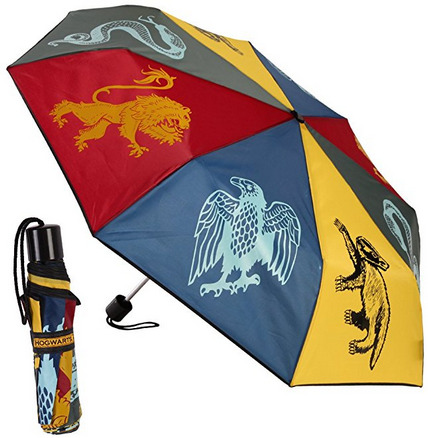 Harry Potter Hogwarts Houses Umbrella is one of the best Harry Potter gifts
