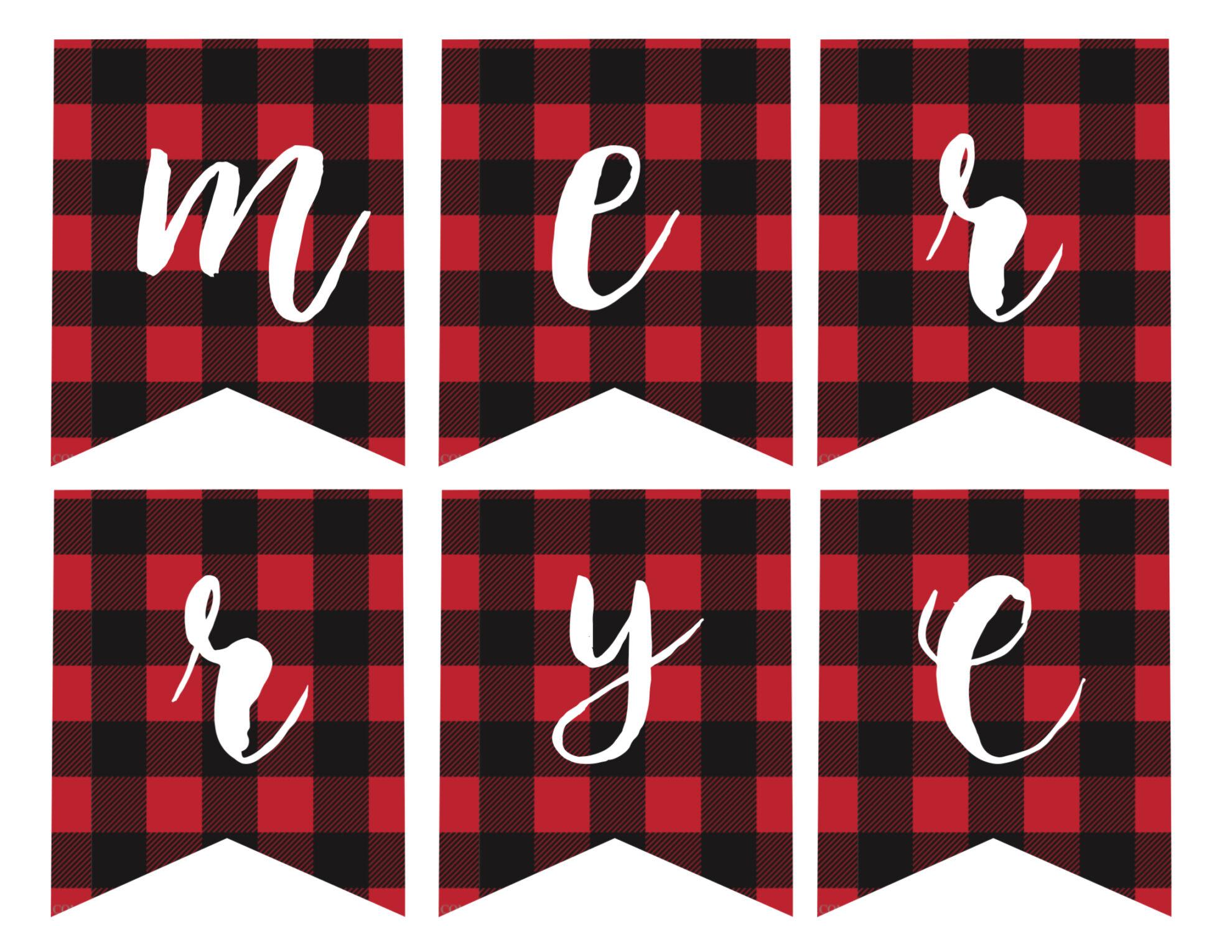 merry christmas banner printable