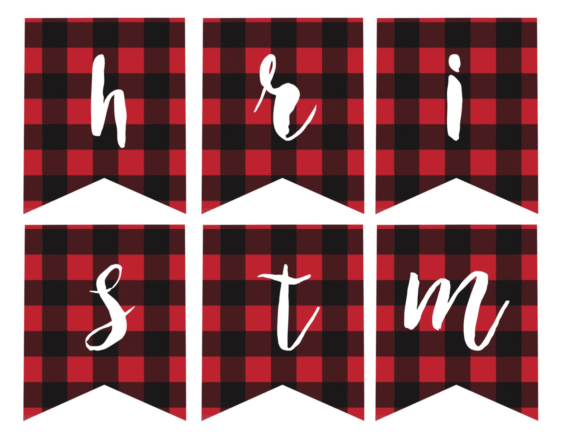h m merry christmas banner