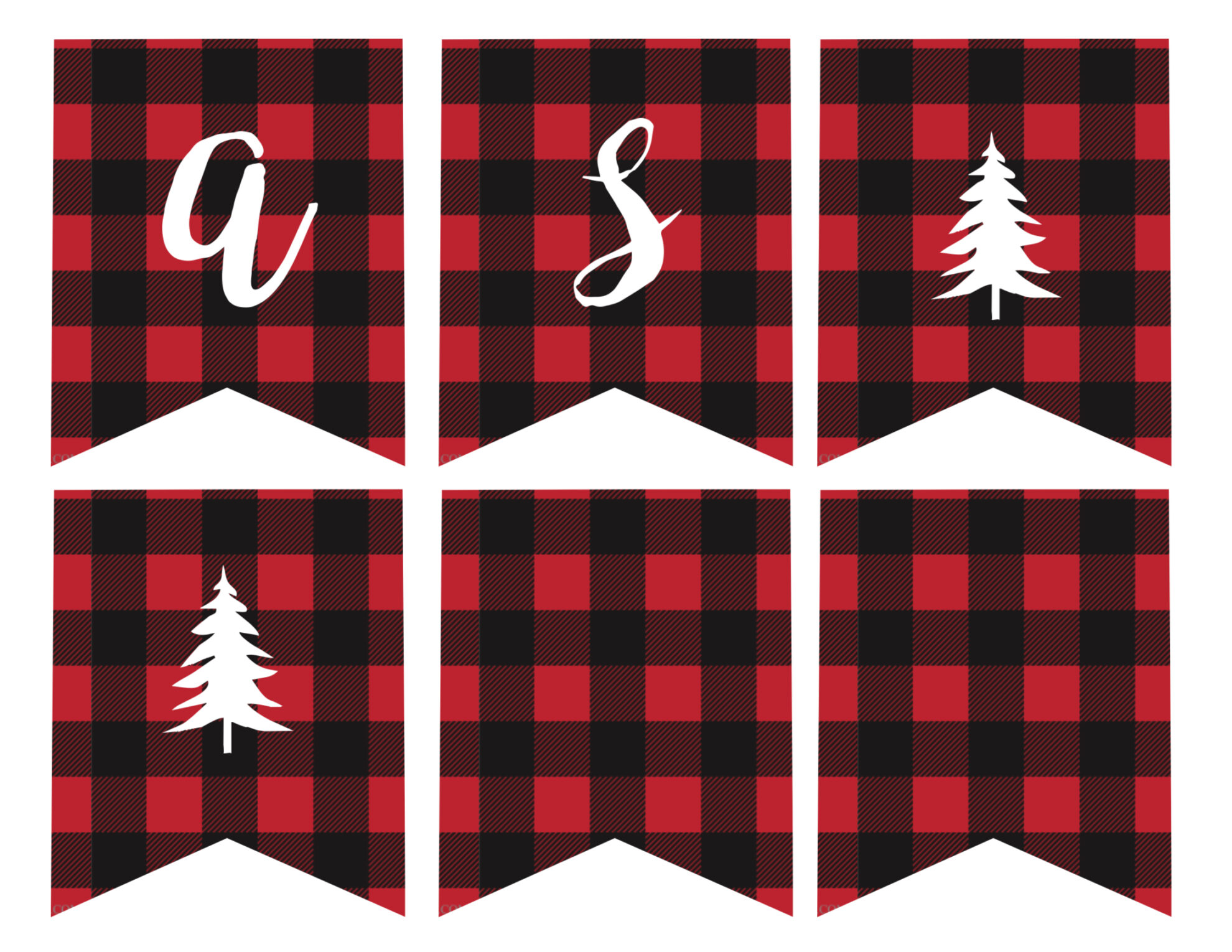 Free Printable Merry Christmas Banner  Paper Trail Design