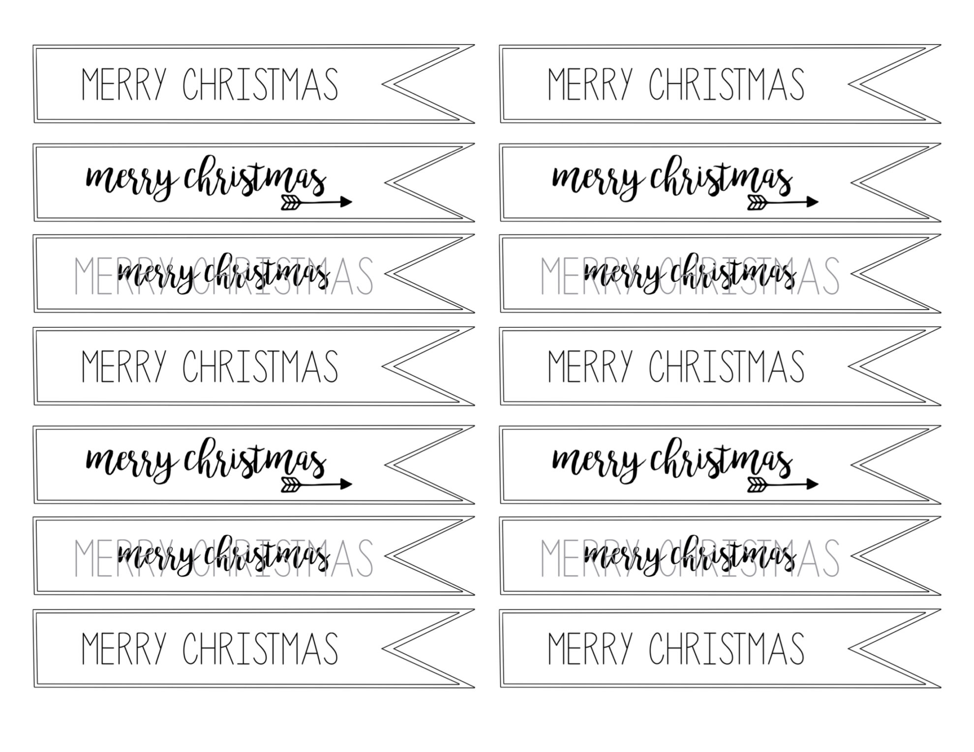 Merry Christmas Tag Free Printable - Paper Trail Design