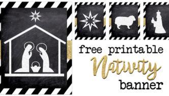 Christmas Nativity Banner Free Printable