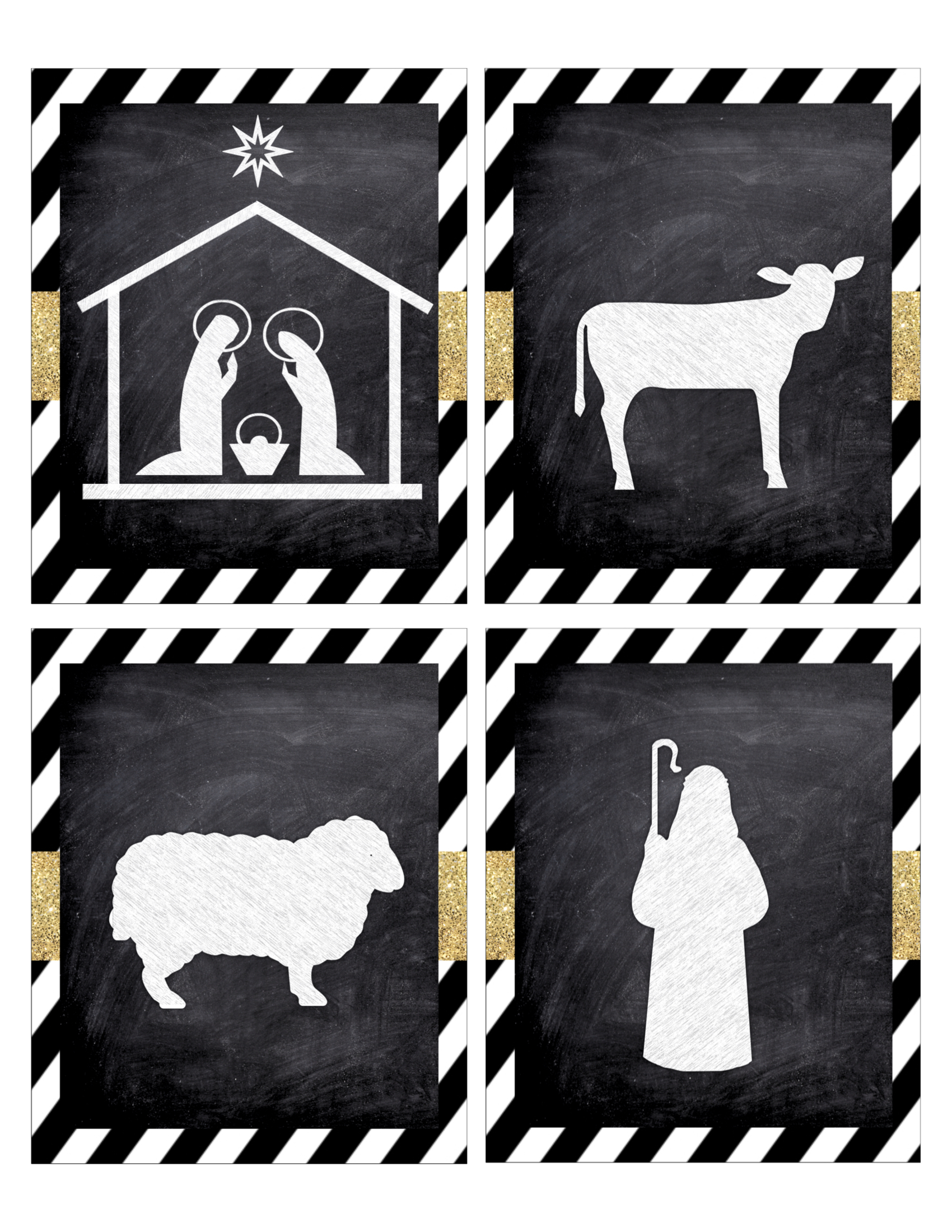 picture relating to Free Printable Silhouettes known as Xmas Nativity Banner Free of charge Printable - Paper Path Structure