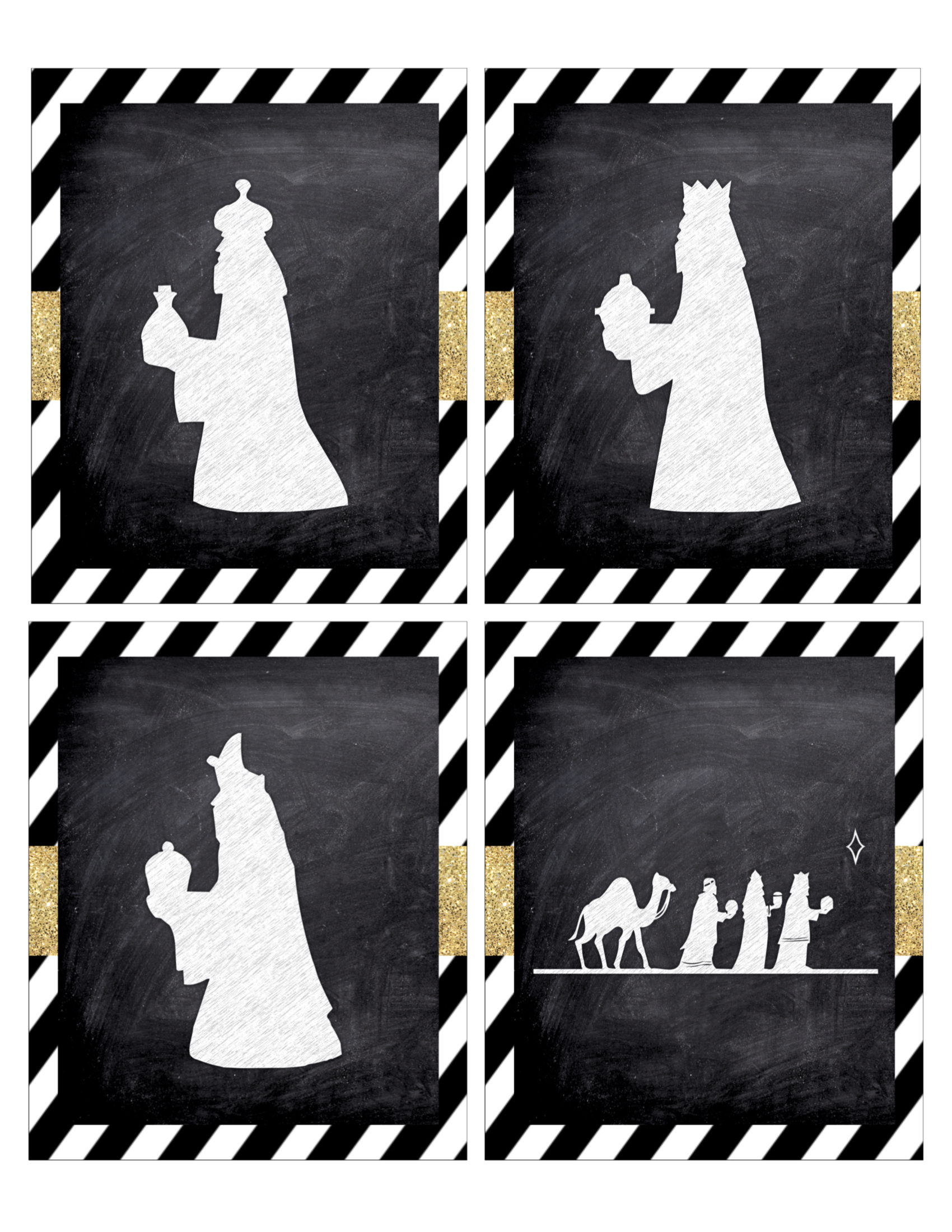 photo about Free Printable Nativity Silhouette named Xmas Nativity Banner No cost Printable - Paper Path Style and design