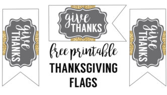 Free Printable Thanksgiving Flags