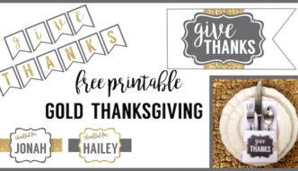 Free Printable Thanksgiving Set