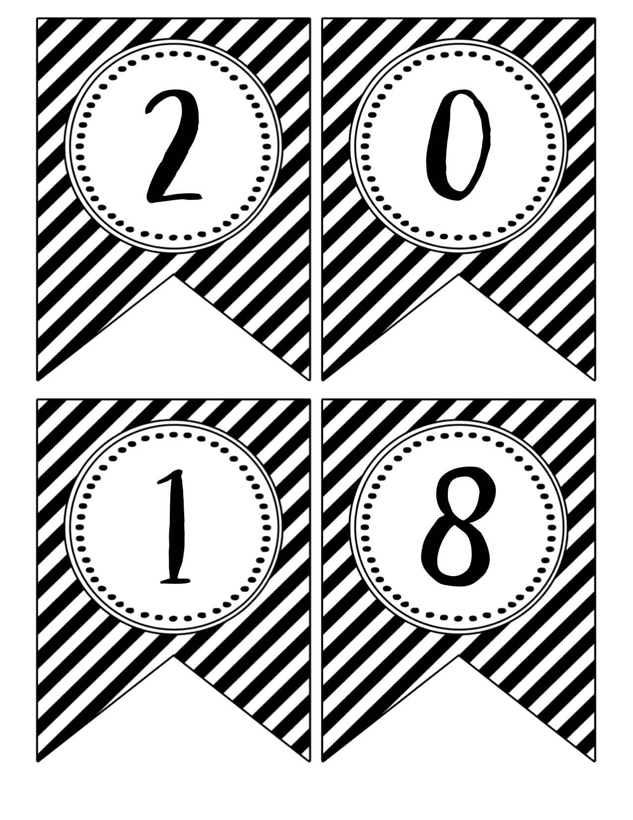 free printable year banners 2017 banner 2018 banner