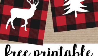 Rustic Christmas Tags Free Printable. Buffalo plaid Christmas tags to print for free. Add these free printable rustic tags cheap and easy Christmas gift wrap.
