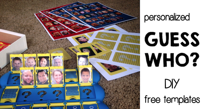 DIY Guess Who Template free printable. Use these free printable Guess Who templates to make your own personalized Guess Who game of your family.