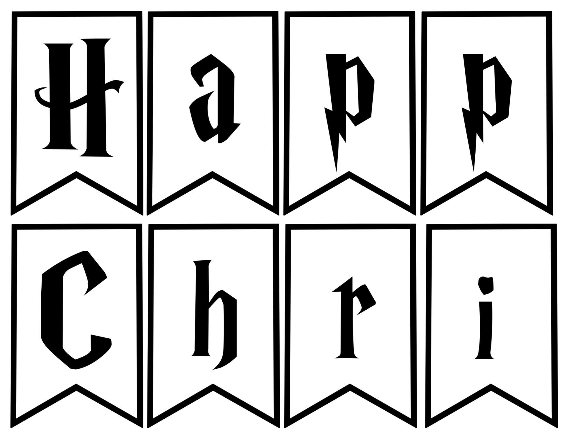 Harry Potter Christmas Decor Banner - Paper Trail Design