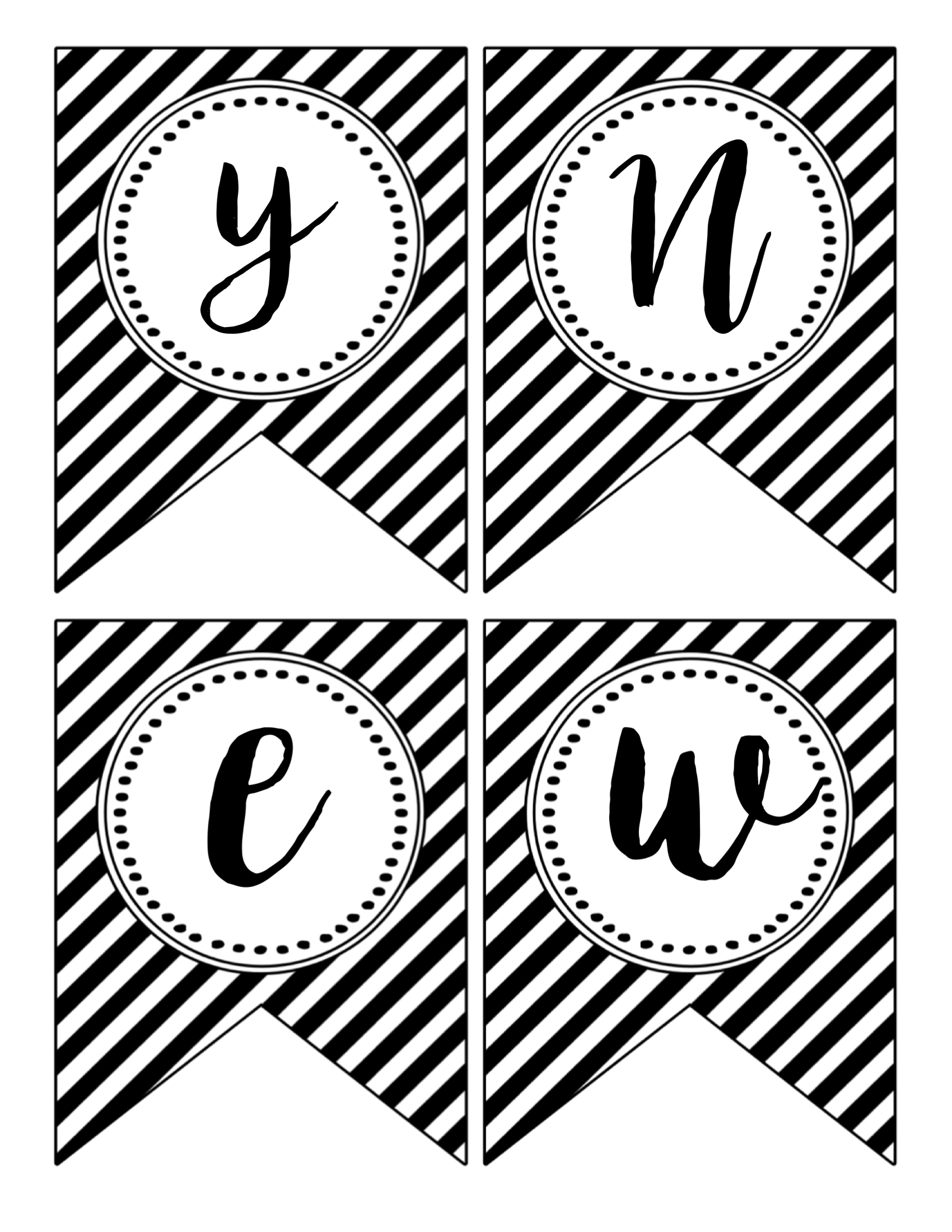 Happy New Year Banner Printable - Paper Trail Design