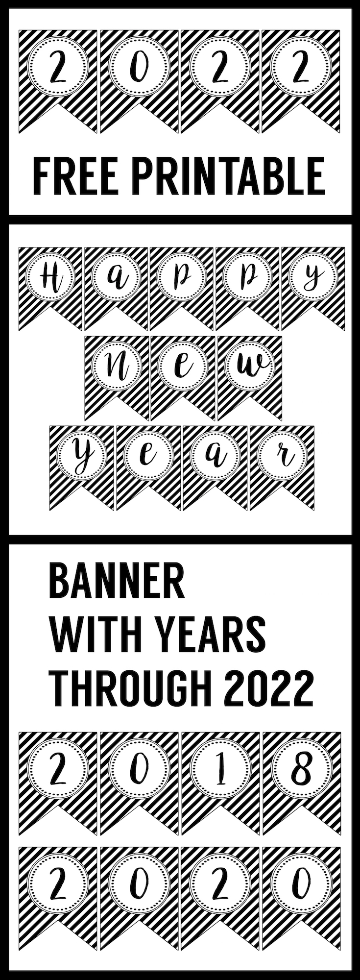 happy new year banner printable this free printable happy new year banner is an easy