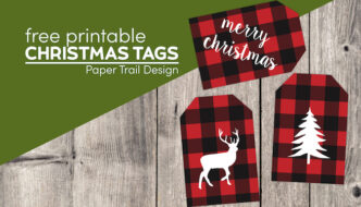 Christmas gift tags printable with text overlay- free printable Christmas tags
