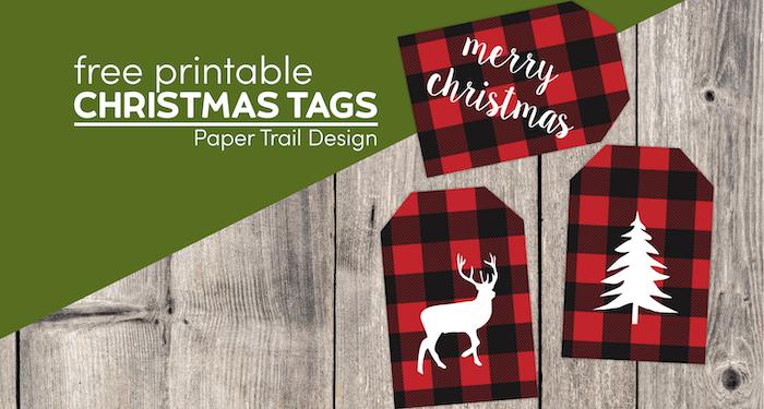 Christmas gift tags printable with text overlay- free printable Christmas tags