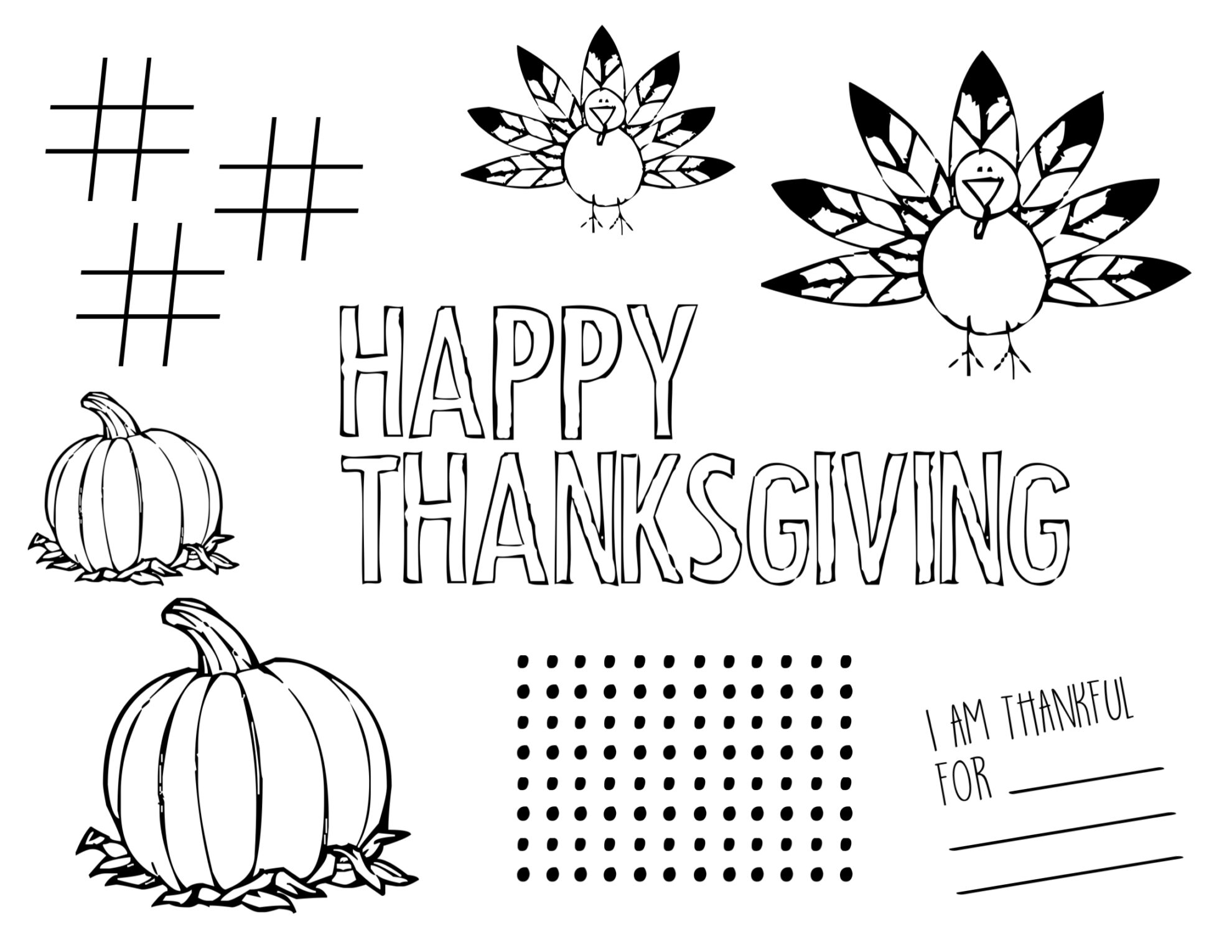 photograph about Printable Thanksgiving Placemat called Totally free Printable Thanksgiving Placemat - Paper Path Style and design