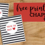 Chapstick Card Free Printable. Great valentine, teacher gift, Fathers Day card, Mother's Day card, or appreciation gift. #papertraildesign #valentine #appreciation #teacherappreciation