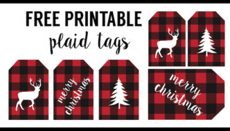 Rustic Christmas Tags Free Printable