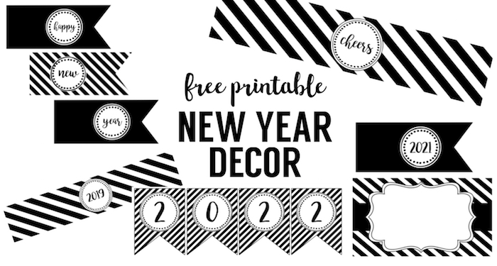 Happy New Year Party Printables - Paper Trail Design