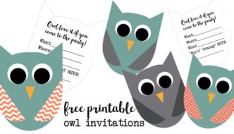 Free Printable Owl Invitations