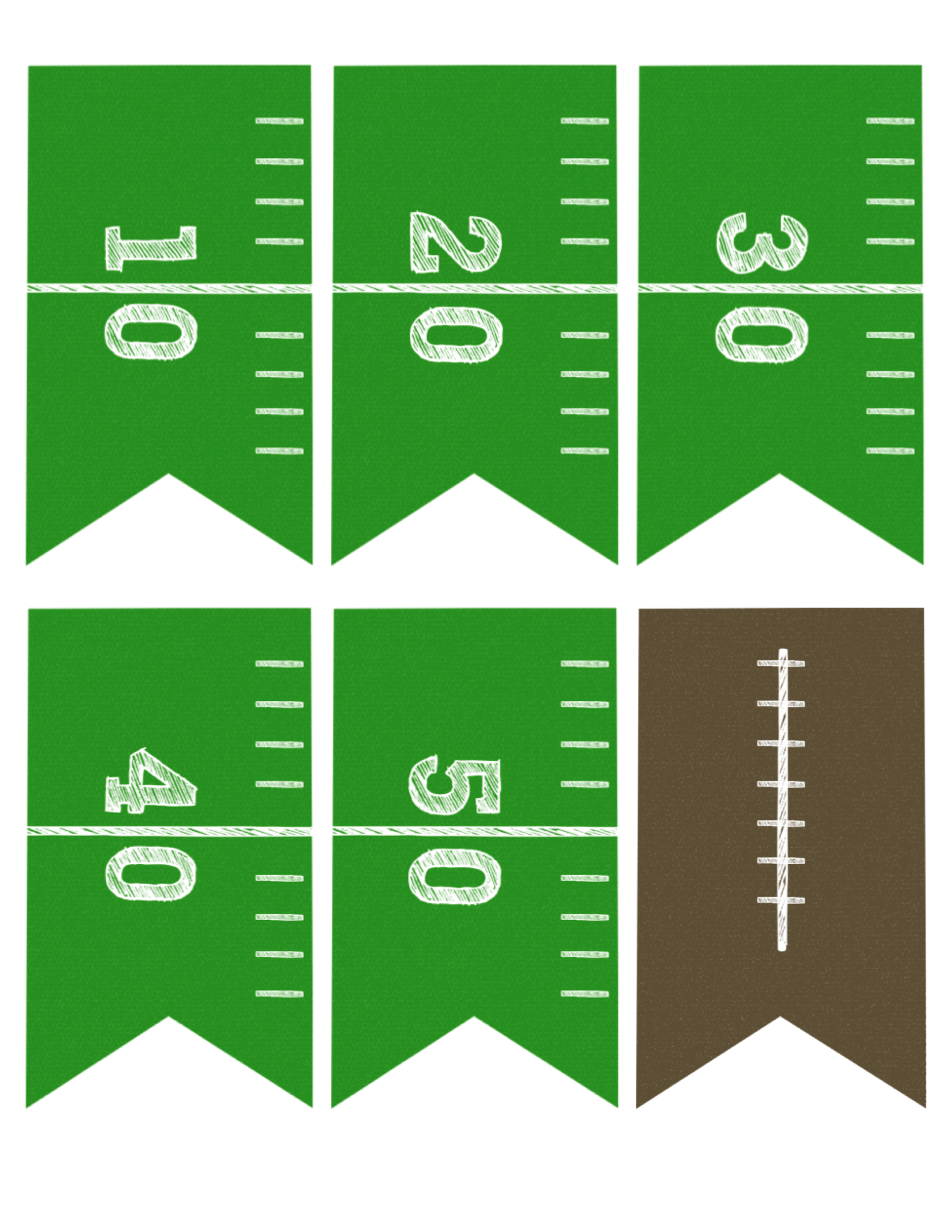 Football Banner Free Printable {Football Party} - Paper Trail Design
