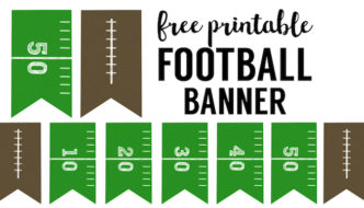 Football Banner Free Printable {Football Party}
