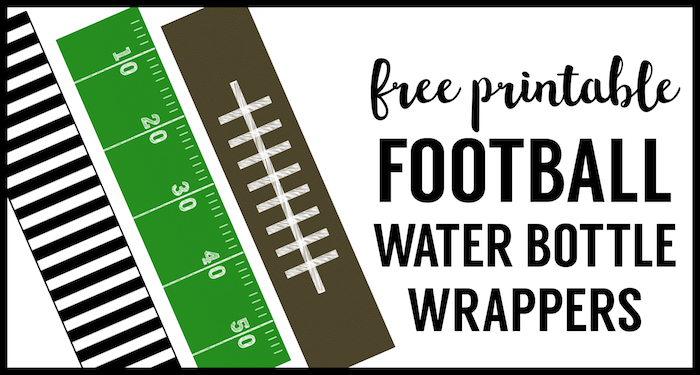 Football Water Bottle Labels Free Printable | Football party ...