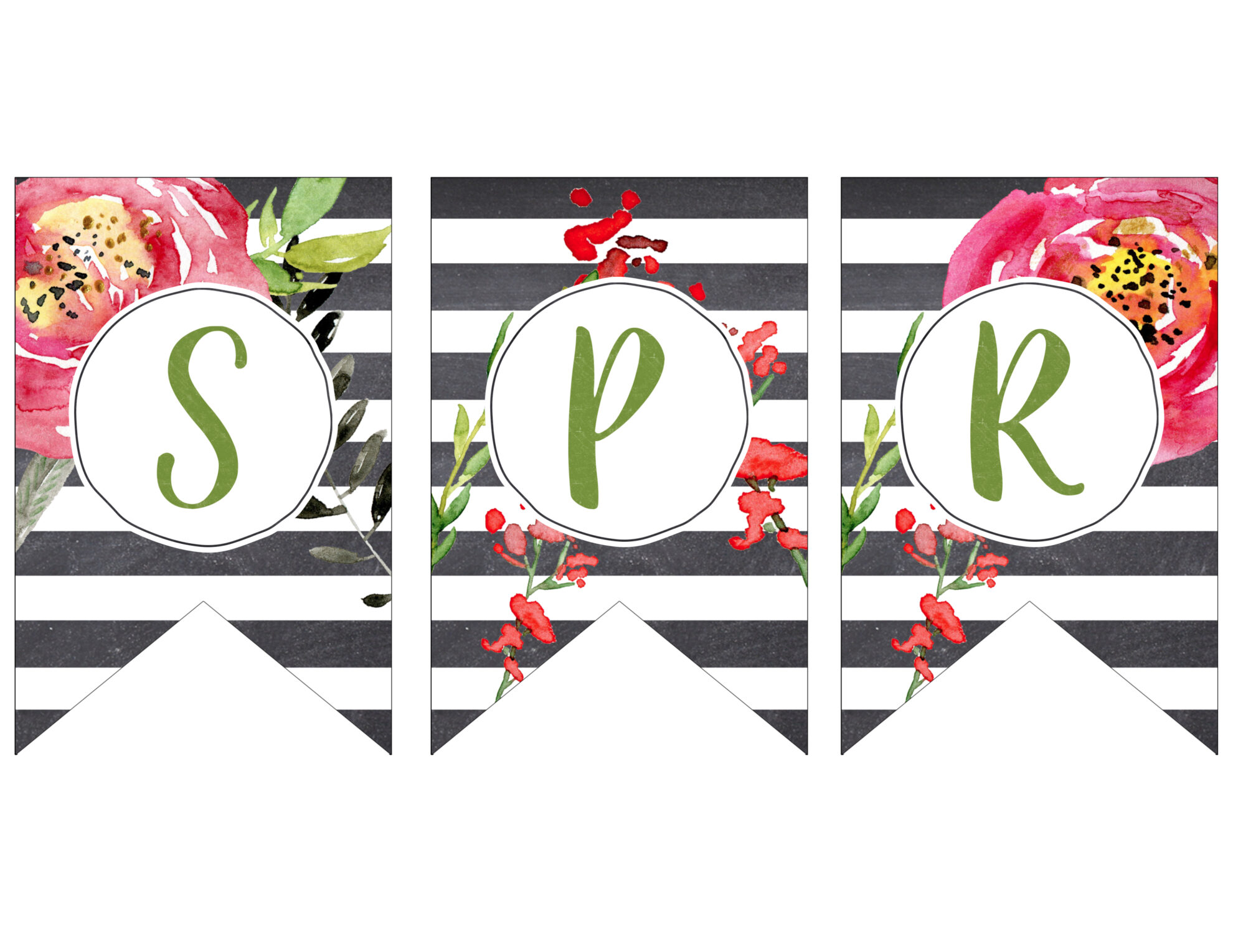 Spring Banner Printable {Spring Decorations}   Paper Trail ...