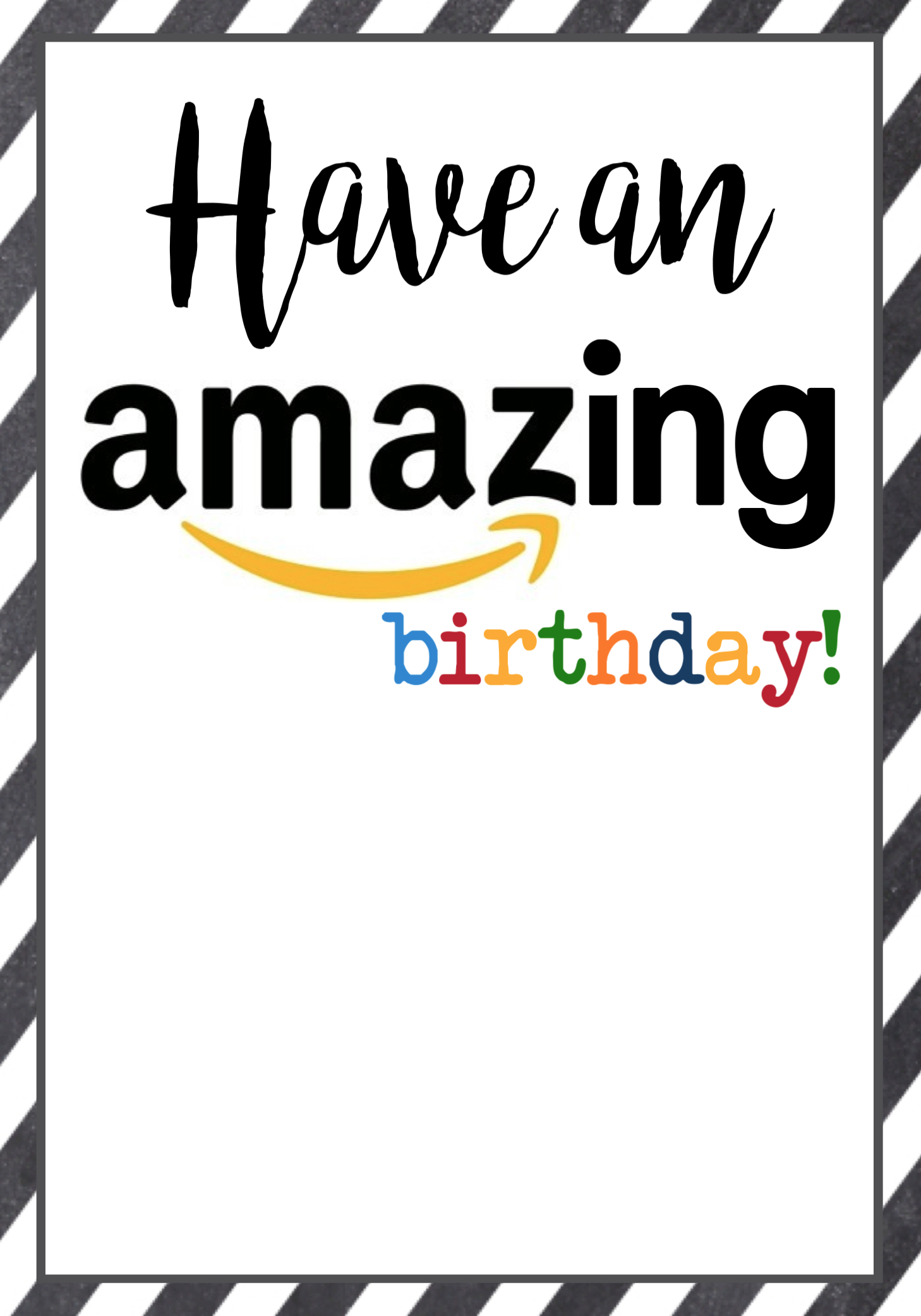 You Can Print The Amazon Birthday Gift Cards On Back