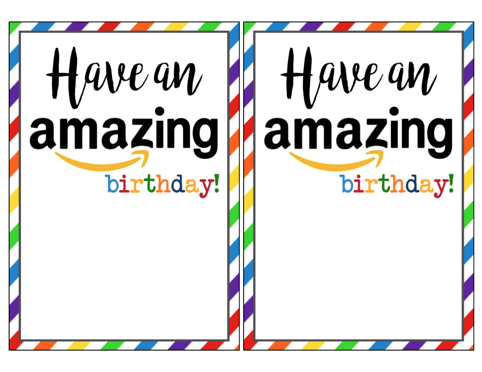 Amazon Birthday Cards Free Printable Paper Trail Design