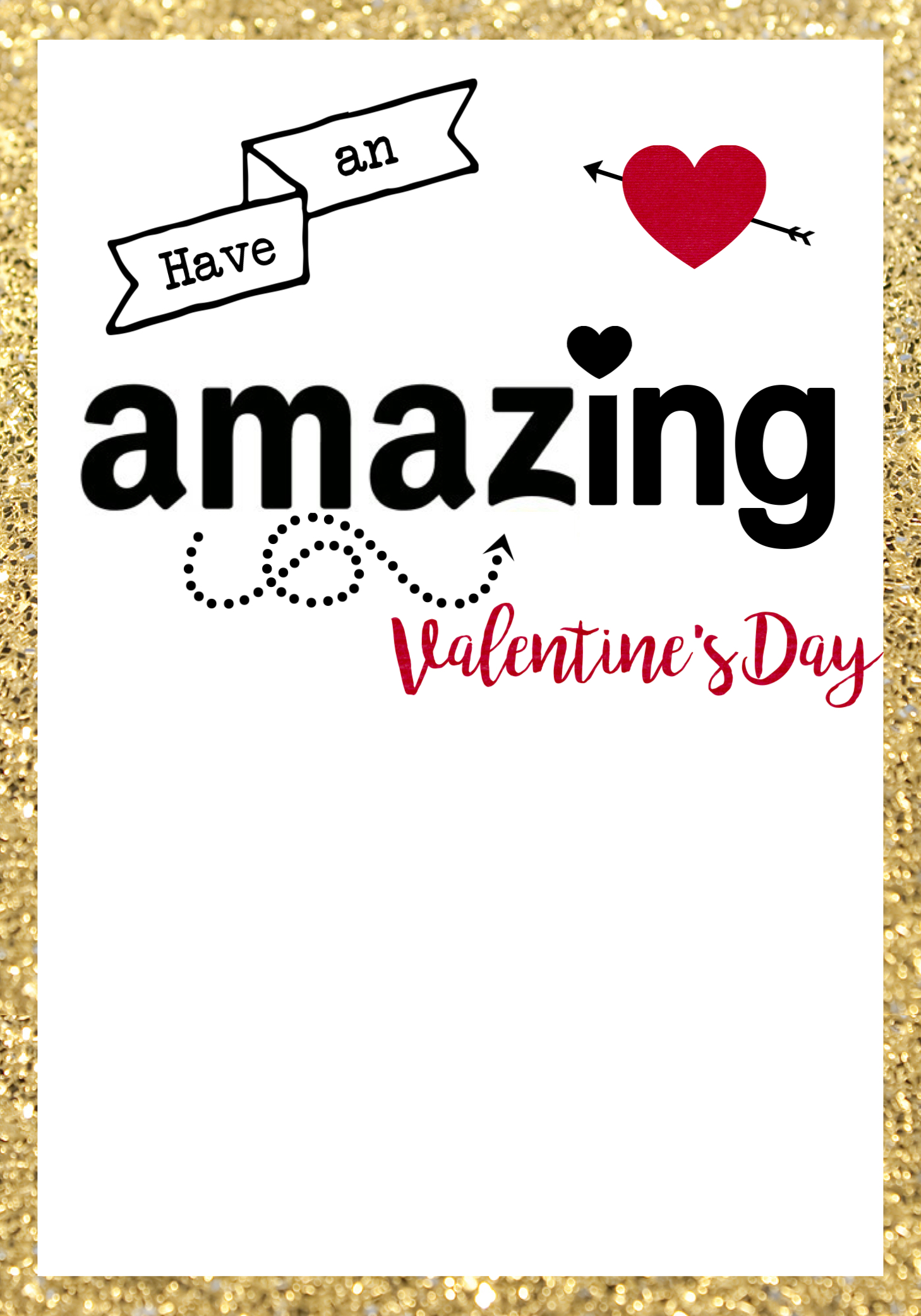 Amazon Valentine Card Printable Paper Trail Design